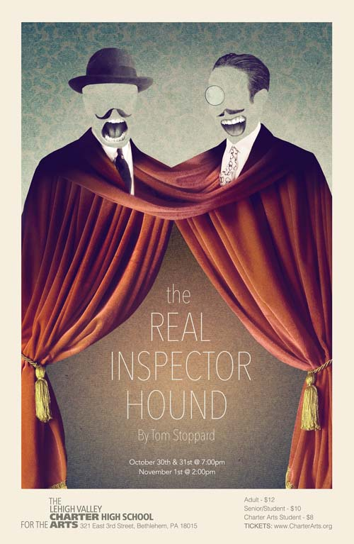 tom stoppard the real inspector hound Join the west end studio theatre for two wonderful one-act plays - black comedy & the real inspector hound play synopses: black comedy - by peter.